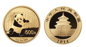Gold Panda Coin from China